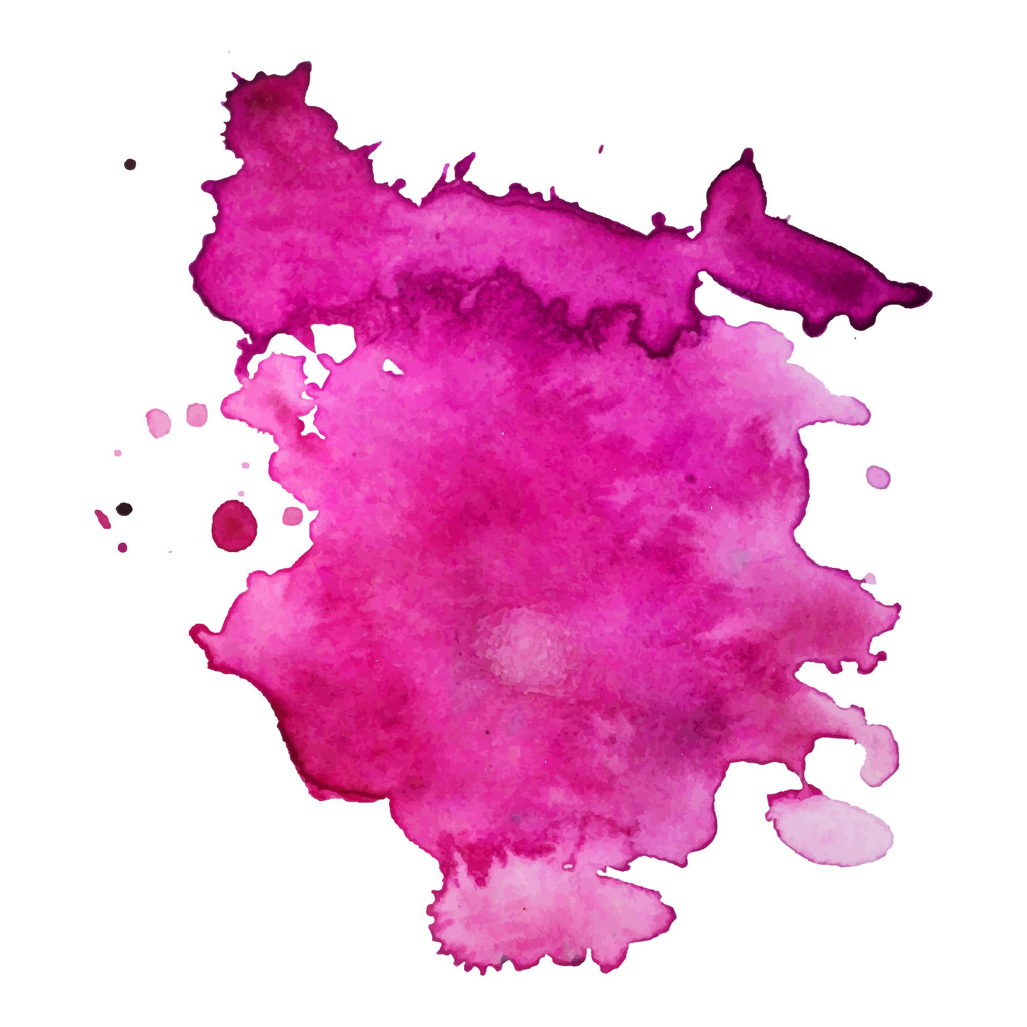 Splash de peinture fuschia