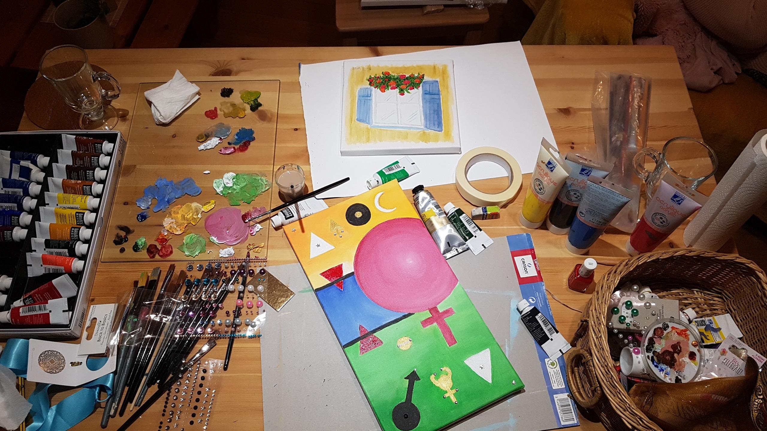 Atelier Peinture chez Cécile